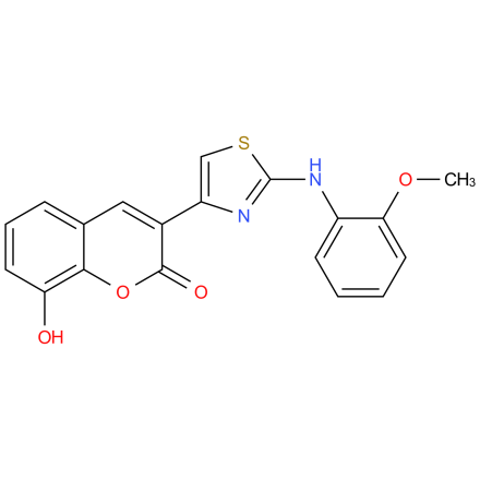 8-hydroxy-3-(2-((2-methoxyphenyl)amino)thiazol-4-yl)-2H-chromen-2-one