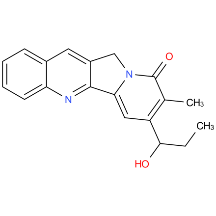 R,S-Mappicine; 7-(1-Hydroxypropyl)-8-methyl-11H-indolizino[1,2-b]quinolin-9-one