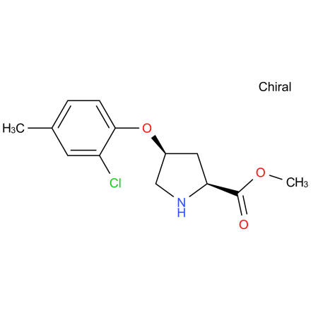 Methyl (2S,4S)-4-(2-chloro-4-methylphenoxy)-2-pyrrolidinecarboxylate hydrochloride