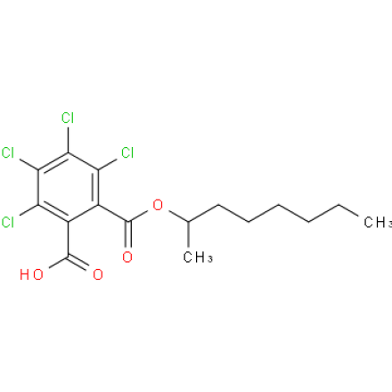 2,3,4,5-tetrachloro-6-((octan-2-yloxy)carbonyl)benzoic acid