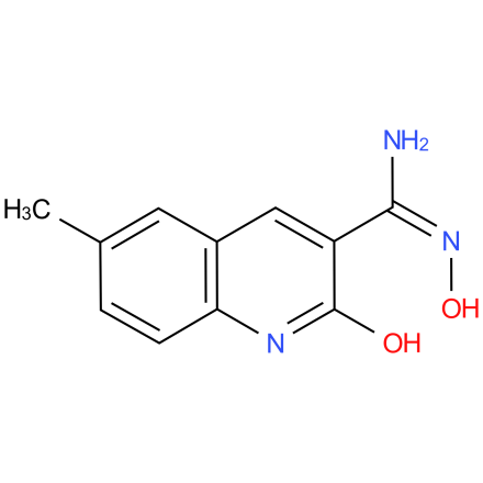 (E)-N',2-dihydroxy-6-methylquinoline-3-carboximidamide