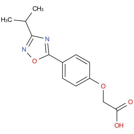 2-(4-(3-isopropyl-1,2,4-oxadiazol-5-yl)phenoxy)acetic acid