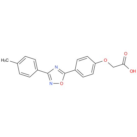 2-(4-(3-(p-tolyl)-1,2,4-oxadiazol-5-yl)phenoxy)acetic acid