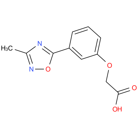 2-(3-(3-methyl-1,2,4-oxadiazol-5-yl)phenoxy)acetic acid