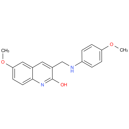 6-methoxy-3-(((4-methoxyphenyl)amino)methyl)quinolin-2-ol