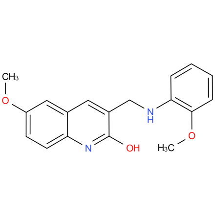 6-methoxy-3-(((2-methoxyphenyl)amino)methyl)quinolin-2-ol