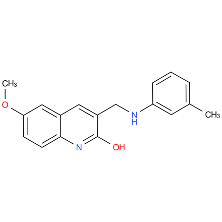 6-methoxy-3-((m-tolylamino)methyl)quinolin-2-ol