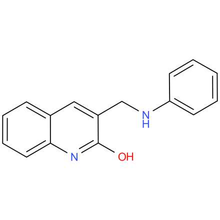 3-((phenylamino)methyl)quinolin-2-ol
