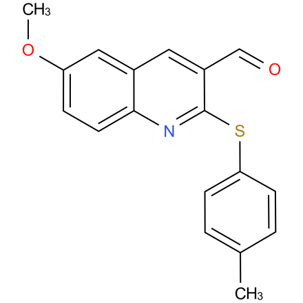 6-methoxy-2-(p-tolylthio)quinoline-3-carbaldehyde