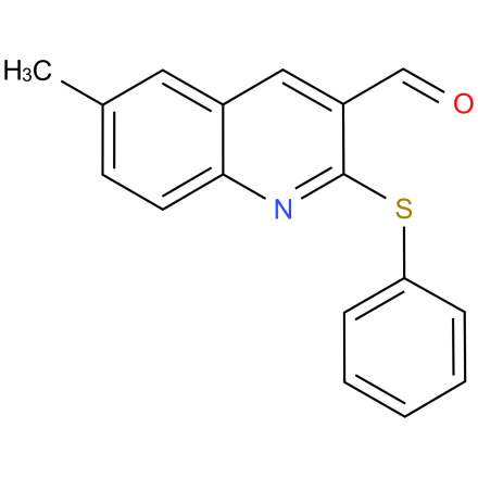 6-methyl-2-(phenylthio)quinoline-3-carbaldehyde