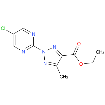ethyl 2-(5-chloropyrimidin-2-yl)-5-methyl-2H-1,2,3-triazole-4-carboxylate