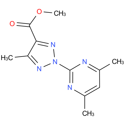 methyl 2-(4,6-dimethylpyrimidin-2-yl)-5-methyl-2H-1,2,3-triazole-4-carboxylate