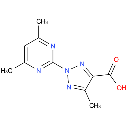 2-(4,6-dimethylpyrimidin-2-yl)-5-methyl-2H-1,2,3-triazole-4-carboxylic acid
