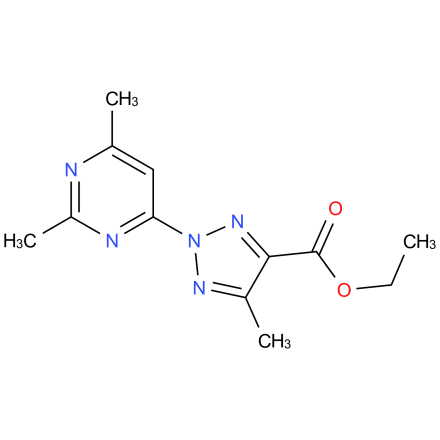 ethyl 2-(2,6-dimethylpyrimidin-4-yl)-5-methyl-2H-1,2,3-triazole-4-carboxylate
