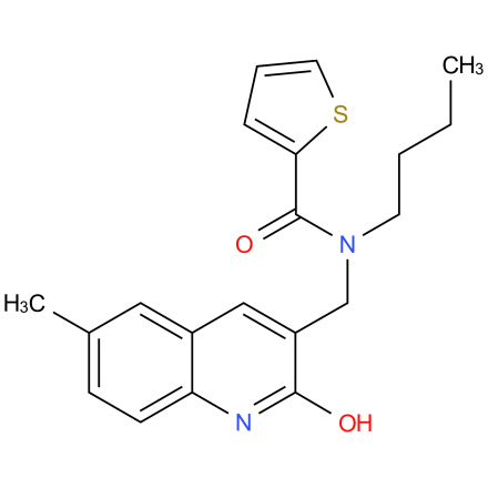 N-butyl-N-((2-hydroxy-6-methylquinolin-3-yl)methyl)thiophene-2-carboxamide
