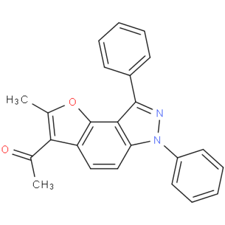 1-(2-methyl-6,8-diphenyl-6H-furo[2,3-e]indazol-3-yl)ethan-1-one